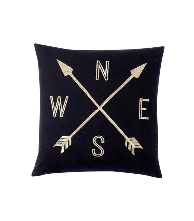 PBteen The Emily + Meritt Compass Pillow Cover