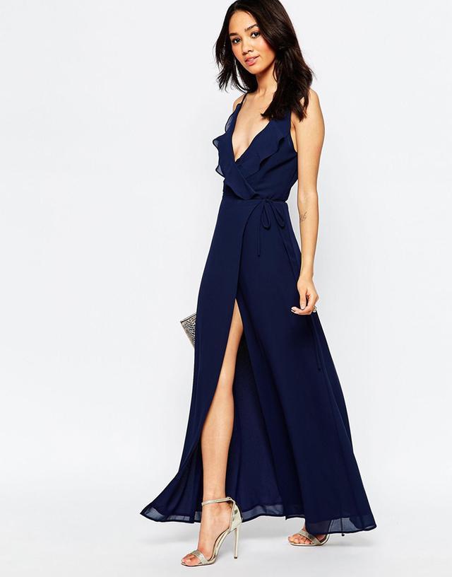Jarlo Tall Soft Plunge Strappy Maxi Dress