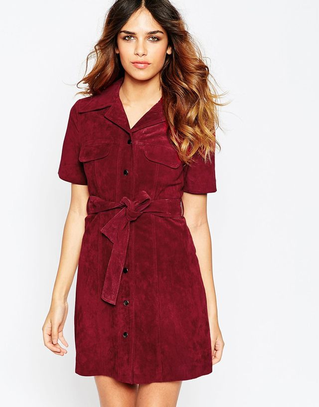 ASOS Suede Shirt Dress