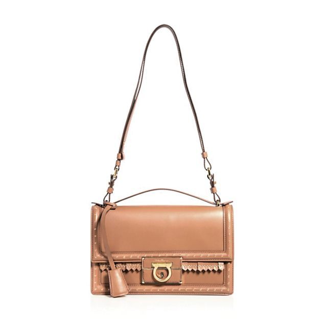 Salvatore Ferragamo Aileen Grommet Fringe Shoulder Bag - Bloomingdale's Exclusive