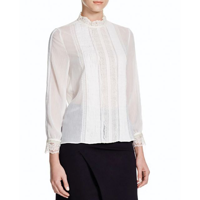 Alice + Olivia Elodie Lace Trim Blouse - Bloomingdale's Exclusive