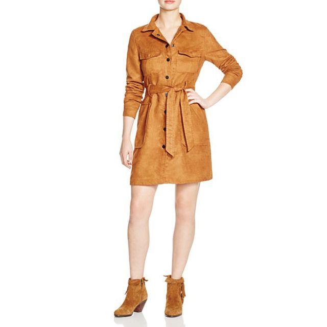 Sanctuary Faux Suede Coat Dress - Bloomingdale's Exclusive