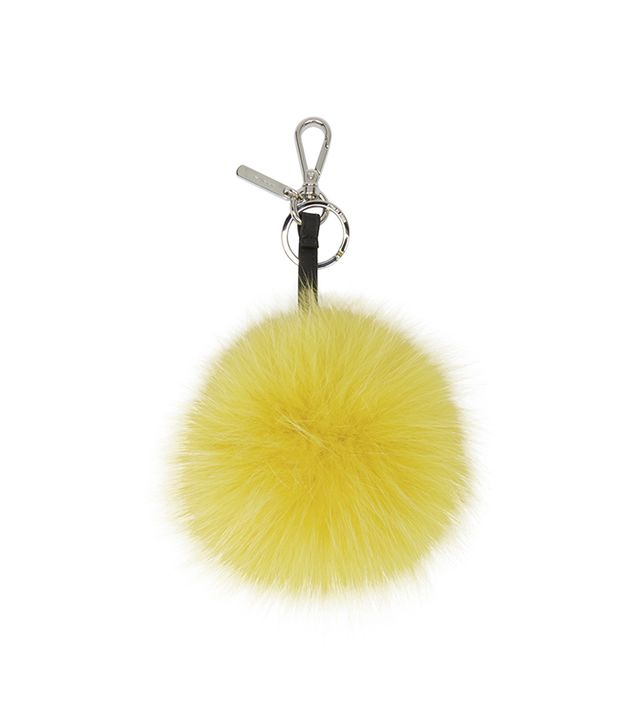 Fendi Fur Smiley Face Keychain