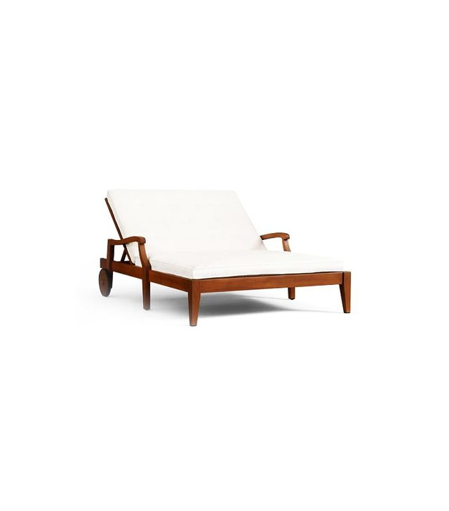 Pottery Barn Hampstead Teak Double Chaise