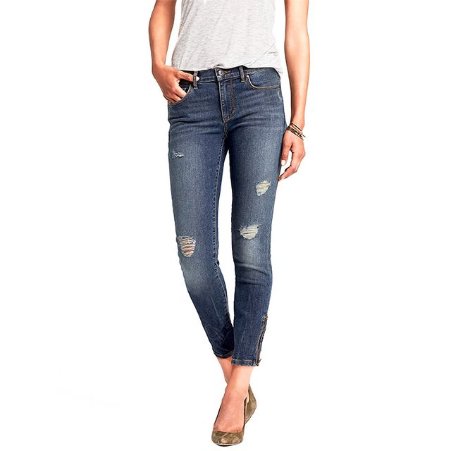 Banana Republic, Distressed Wash Skinny Ankle Jean Distressed Wash Skinny Ankle Jean