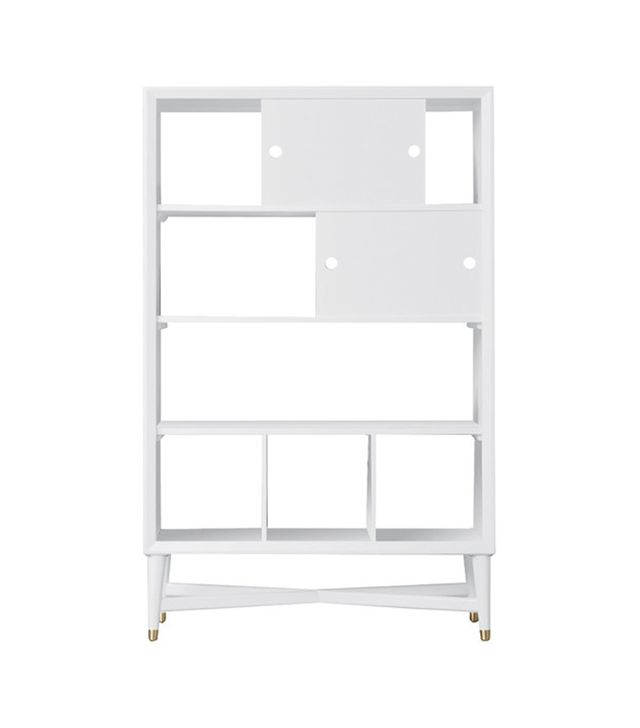 DwellStudio Midcentury French White Bookcase