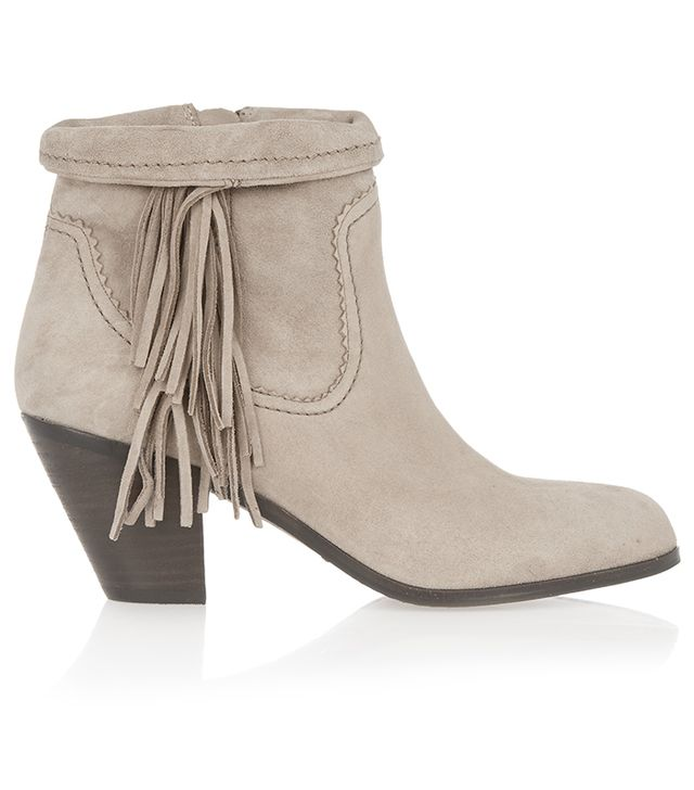 Sam Edelman Louie Fringed Suede Ankle Boots