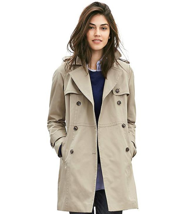 Banana Republic Double-Breasted Trench
