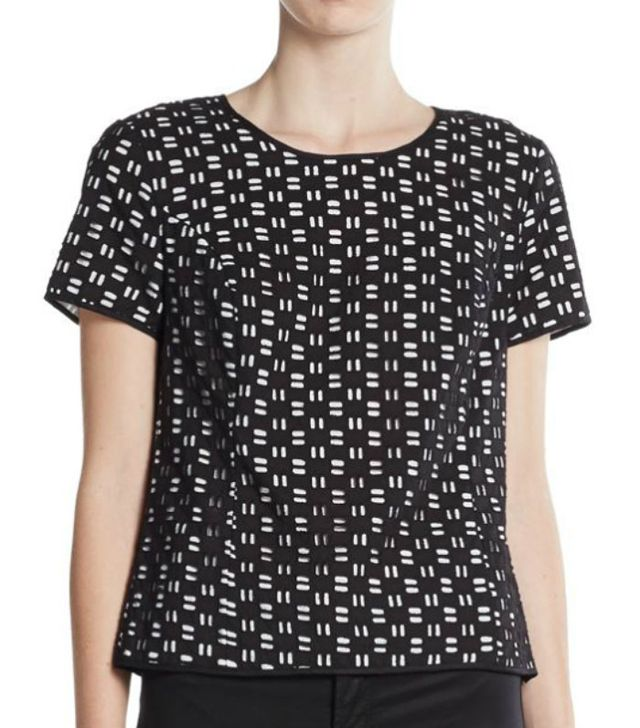 Vince Camuto Dash-Eyelet Body Top