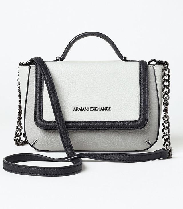 Armani Exchange Textured Chainlink Crossbody Bag