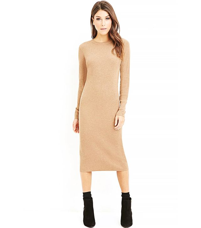Forever 21 Ribbed Knit Midi Dress