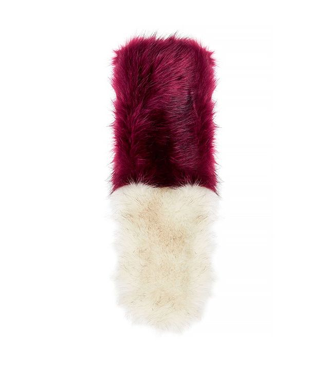 Topshop Colour-Block Faux Fur Stole