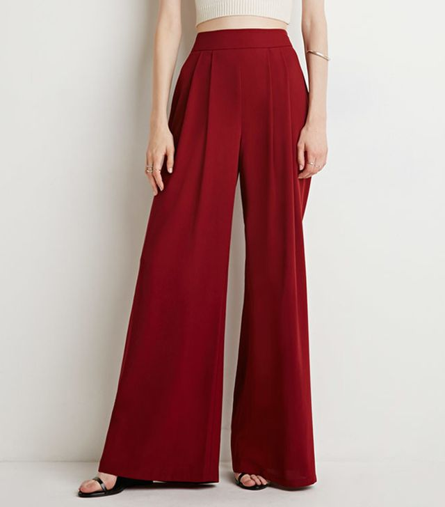 Forever 21 Pleated Wide-Leg Trousers