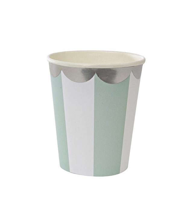 Meri Meri Aqua Stripe Paper Cup