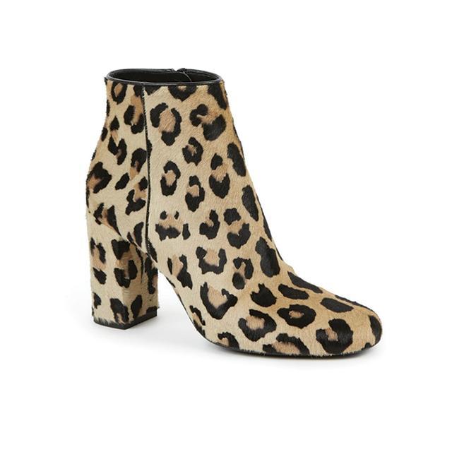 Saint Laurent Babies Leopard-Print Pony Hair Ankle Boots