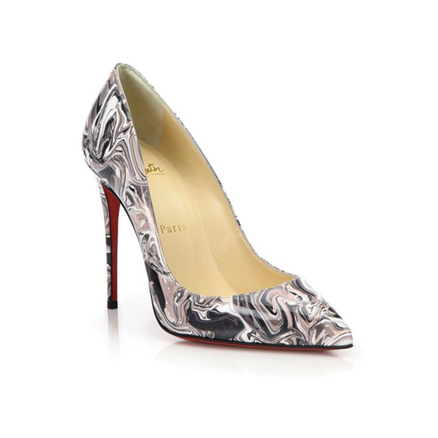 Christian Louboutin Pigalle Follies Marble Swirl Patent Leather Pumps