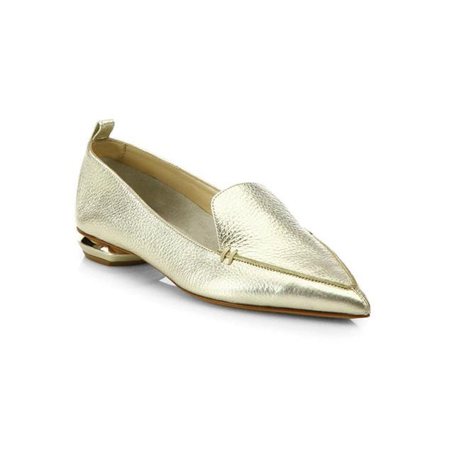 Nicholas Kirkwood Metallic Leather Loafers