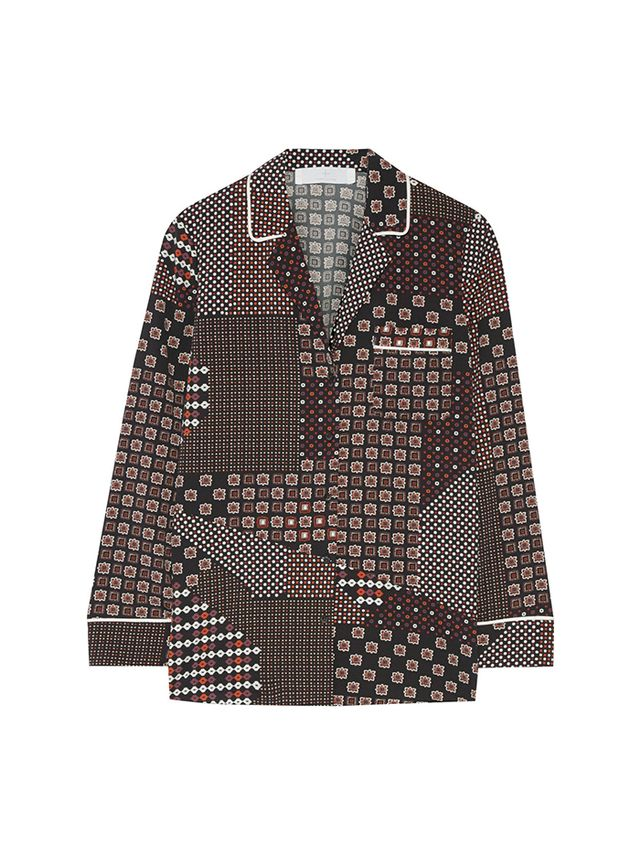 Thakoon Addition Printed Crepe de Chine Shirt