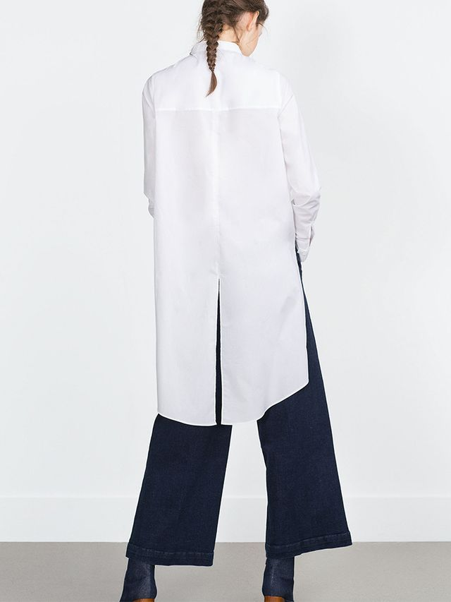 Zara Long Poplin Shirt