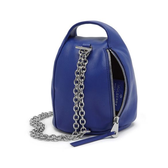 Mulberry Georgia May Jagger Biker Pouch in Sapphire Blue