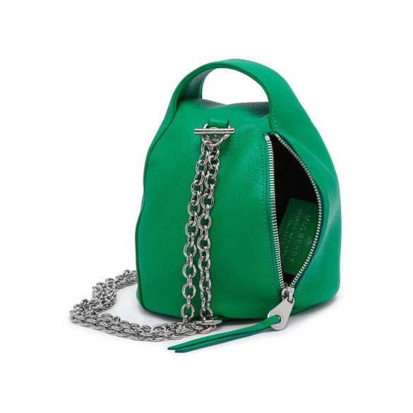 Mulberry Georgia May Jagger Biker Pouch in Emerald Green