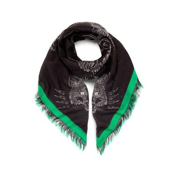 Mulberry Georgia May Jagger Printed Stole in Emerald Green