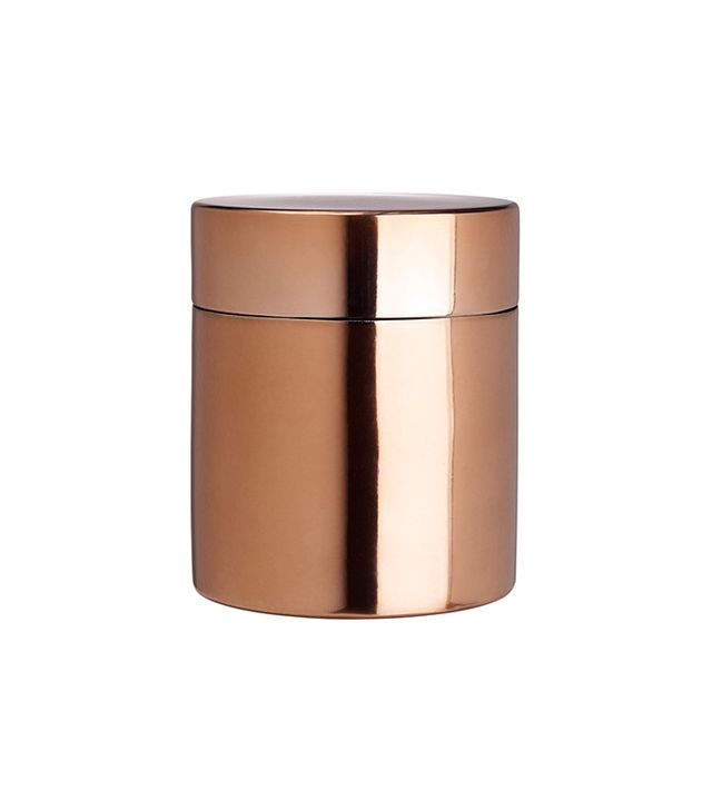 H&M Copper-Coloured Metal Box With Lid