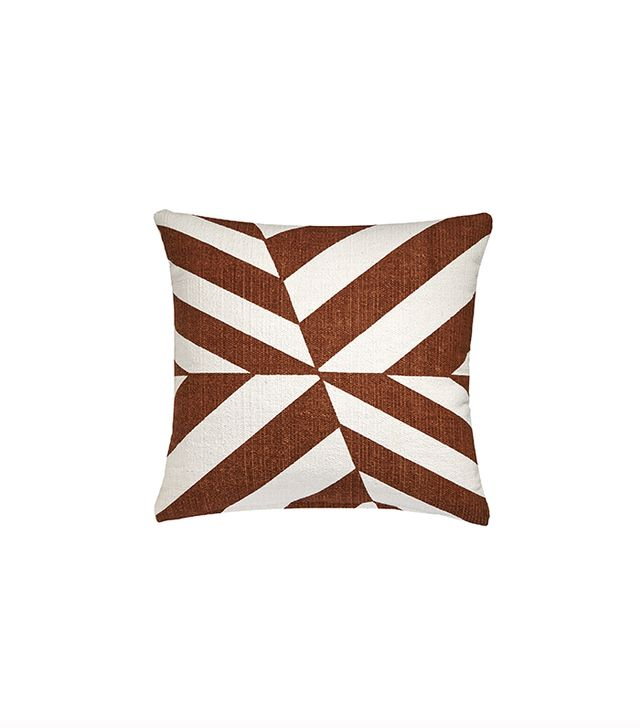 CB2 Changes Brown/White Pillow