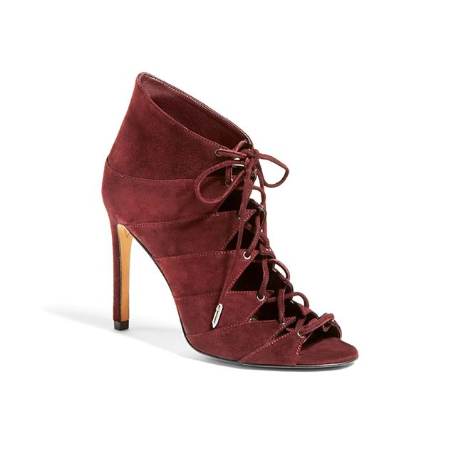 Dolce Vita Hanoa Lace Up Open Toe High Heel Booties - 100% Bloomingdale's Exclusive