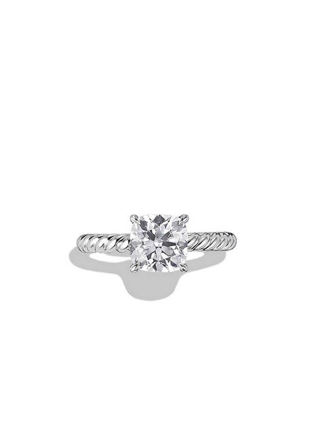 David Yurman Cable Solitaire Engagement Ring