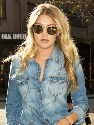 Gigi Hadid's Trick to Dress Up Denim on Denim