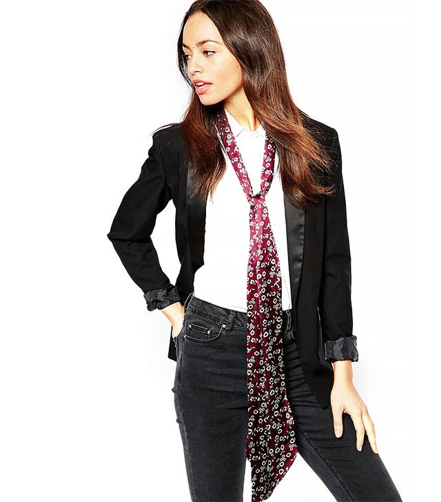 Pieces Floral Skinny Scarf