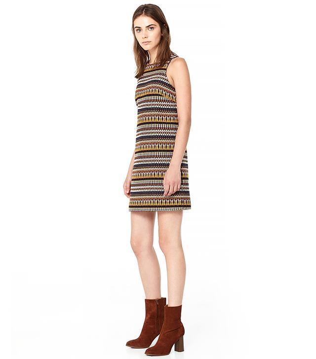 Mango Textured Jacquard Dress