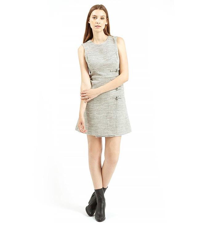Topshop Buckle Detail Shift Dress