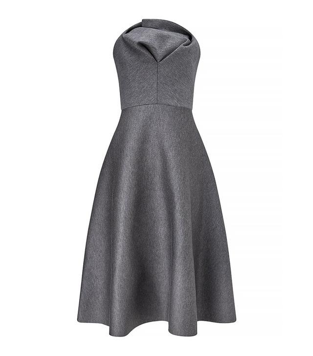 Chalayan Grey Jersey Sculptural Midi Dress