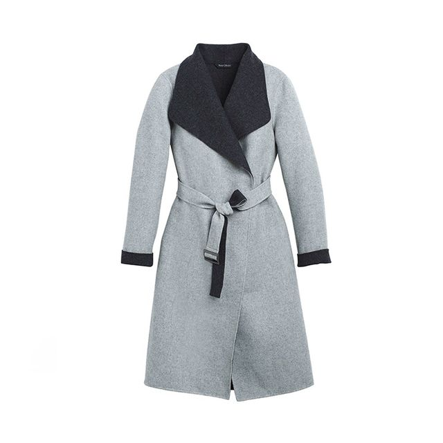 White House Black Market Reversible Wrap Coat