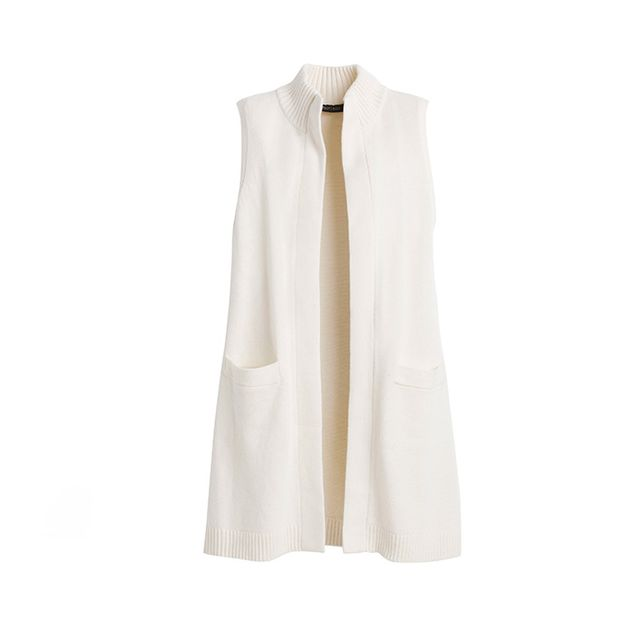 White House Black Market Sleeveless Mock Neck Coverup