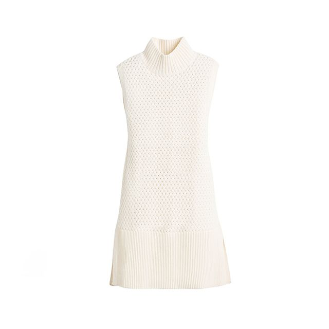 White House Black Market Sleeveless Mock Neck Tabard