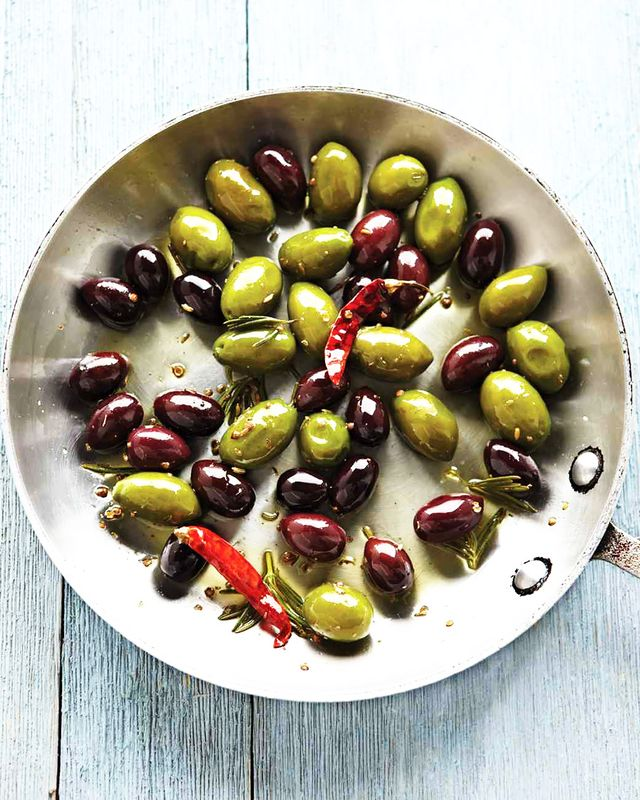 Keep appetizers simple and fill a bowl with marinated olives. This last-minute hors d'oeuvre comes together quickly and pairs perfectly with a glass of sparkling rosé—it is...