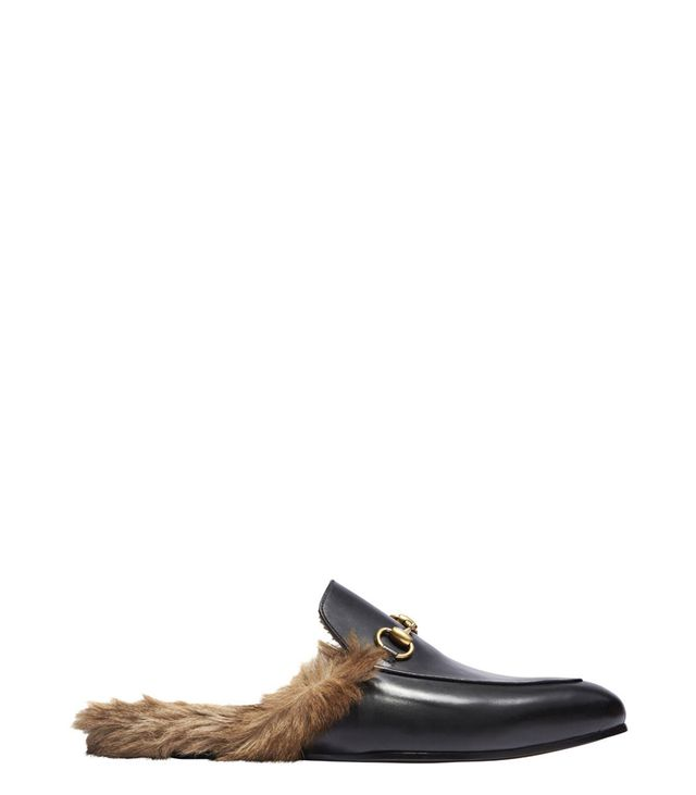 Gucci Fur-Lined Slip-On Loafers