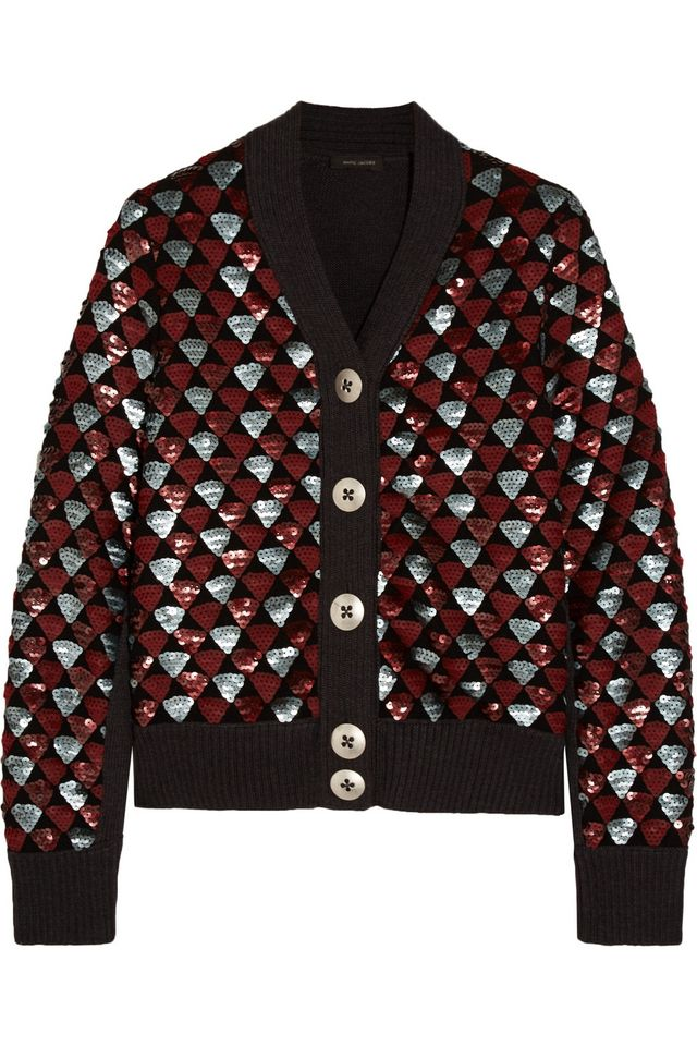 Marc Jacobs Sequin Embellished Wool Cardigan