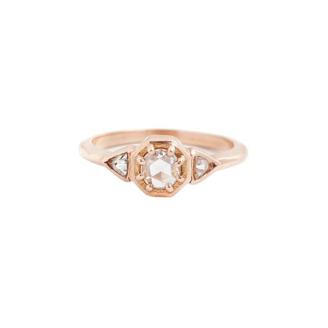 Lauren Wolf Trillion Diamond Ring