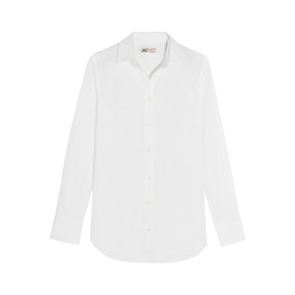 J.Crew + Thomas Mason Oversized Cotton-Poplin Shirt