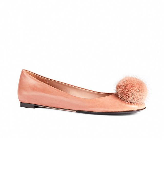 Gucci Heloise Leather Ballet Flats