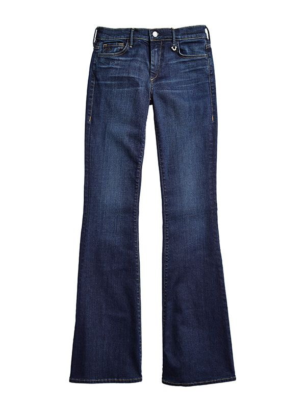 Joan Smalls x True Religion Mid Rise Flare Jeans