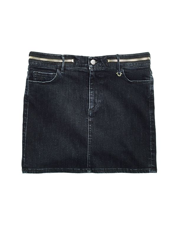 Joan Smalls x True Religion Super Skinny Zip Waist Mini Skirt