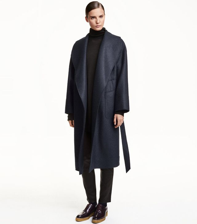 H&M Wool Boucle Coat