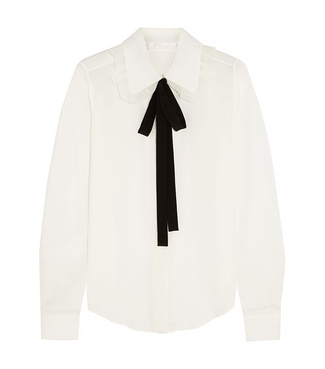 Chloé Pussy-Bow Chine Blouse
