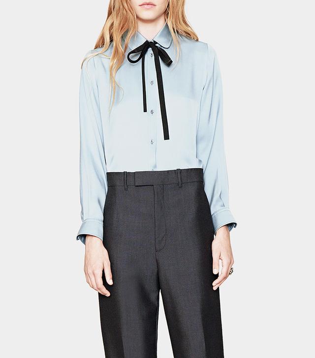 Gucci Satin Button-Down Shirt