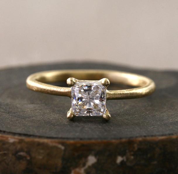 Yasuko Azuma Princess-Cut Diamond Ring